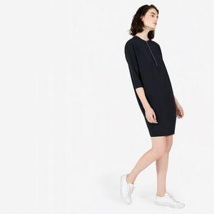 Everlane Japanese Go-Weave ZIP Front Black Dress 6